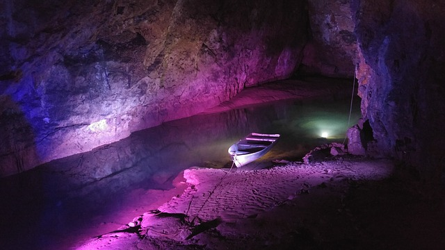 Boat in a Cave